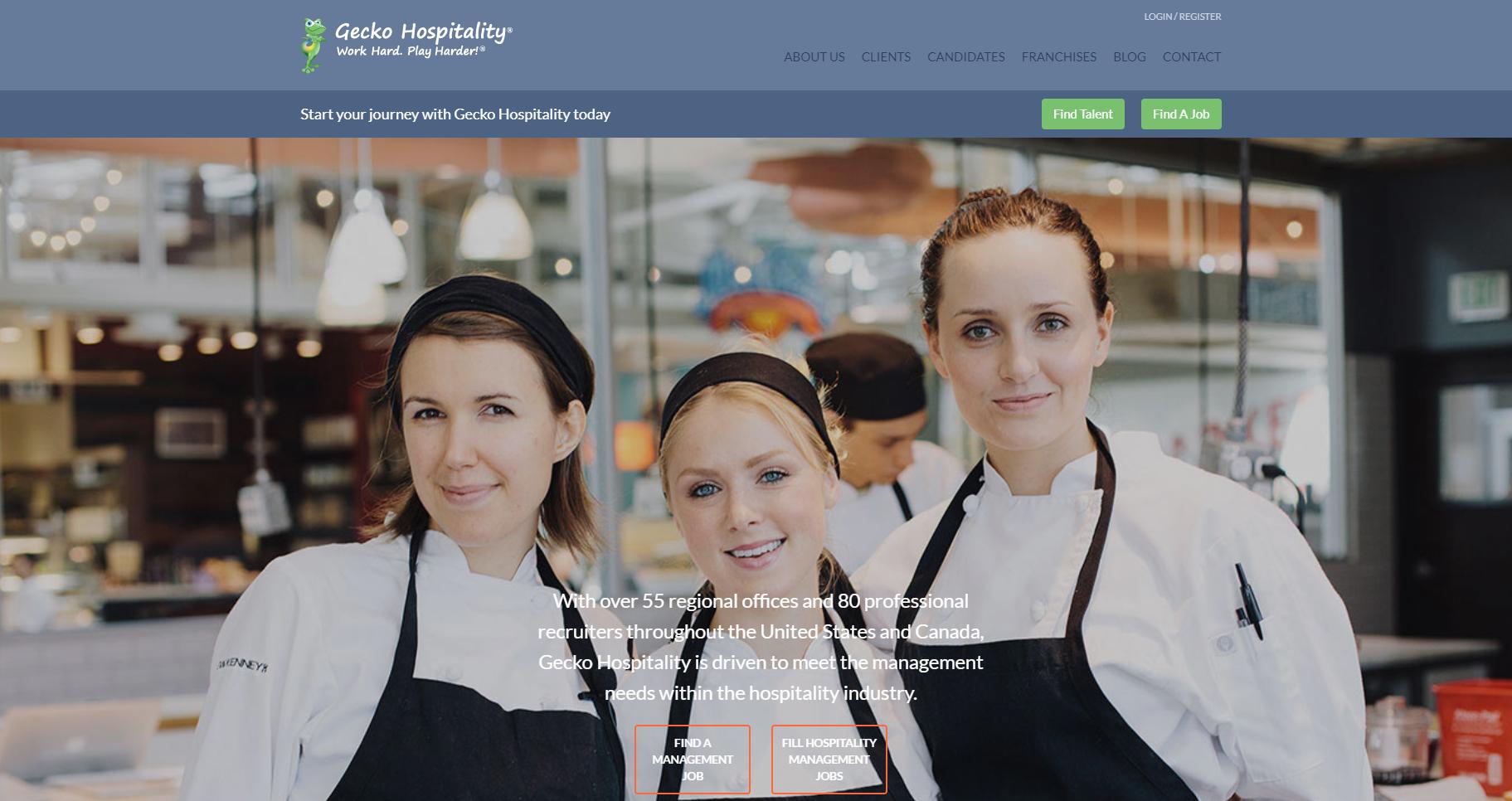 Gecko Hospitality website