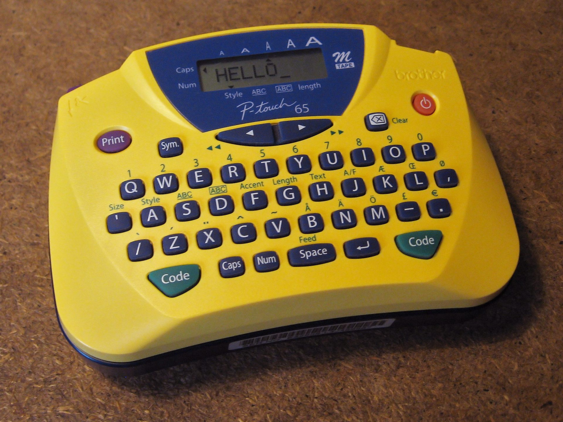 yellow label maker