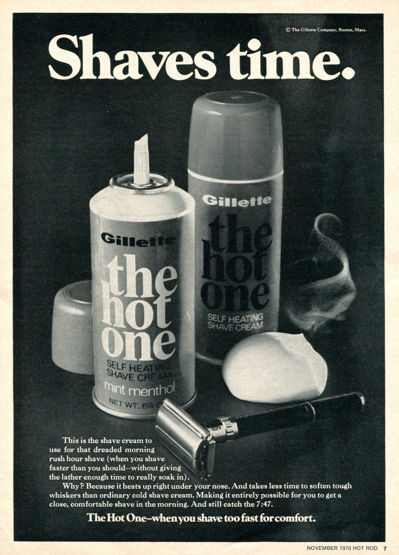 Shaving cream ad