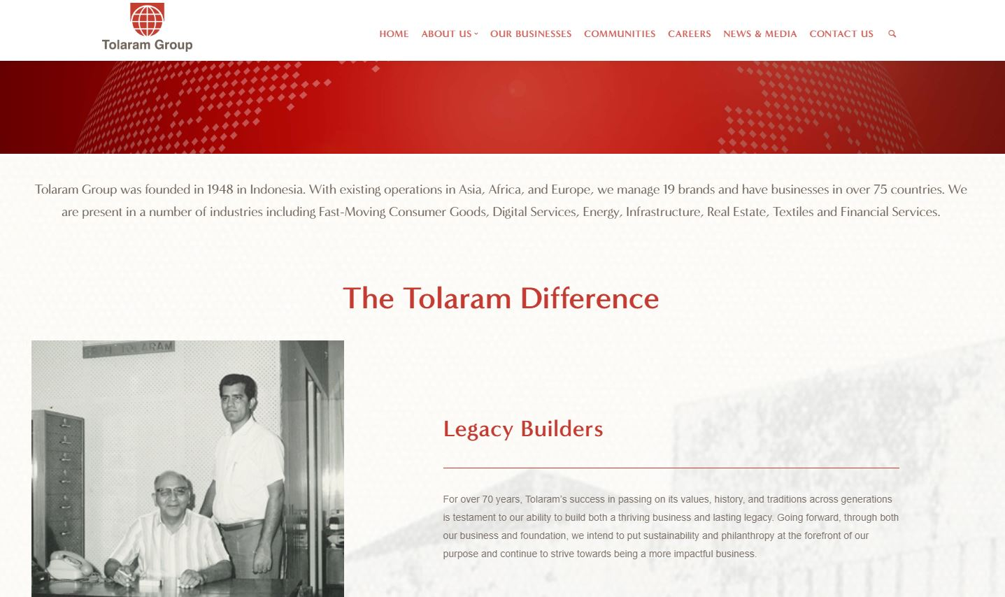Tolaram Group website