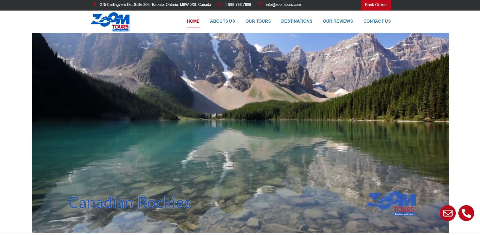 Zoom Tours website