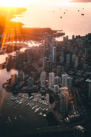 Vancouver, Canada from the air