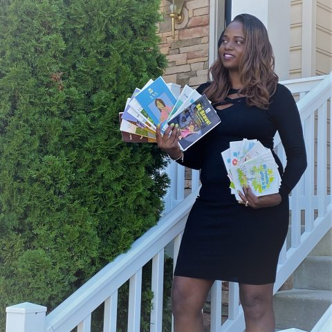 Author Javenna Bellinger with some of her books