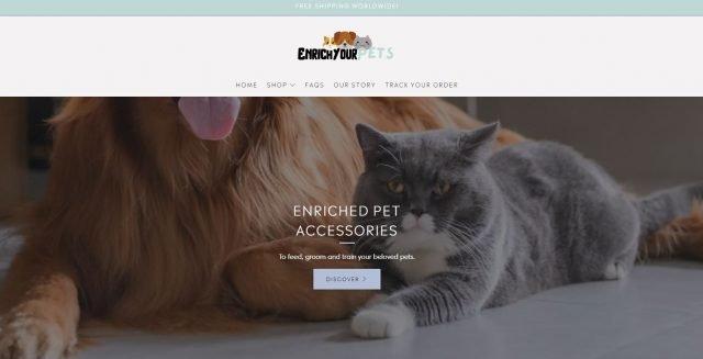 EnrichYourPets.com website