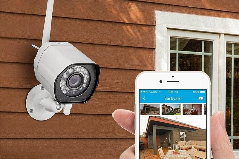 Outdoor security camera and smart phone control app